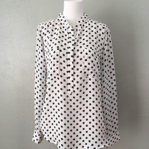 Forever 21 Polka Dot Print Polyester Blouse